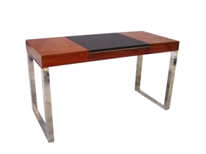 DESK ROSEWOOD LEATHER STEEL 2007 1287a